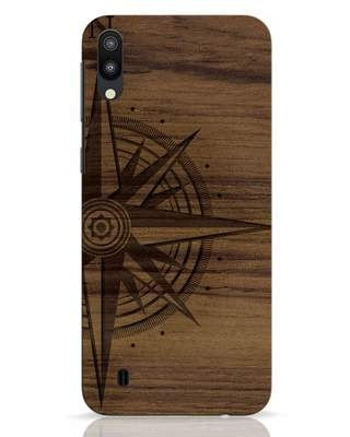 Shop Wood Compass Samsung Galaxy M10 Mobile Cover-Front