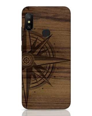 Shop Wood Compass Xiaomi Redmi 6 Pro Mobile Cover-Front