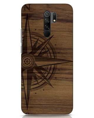 Shop Wood Compass Xiaomi Redmi 9 Prime Mobile Cover-Front