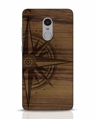 Shop Wood Compass Xiaomi Redmi Note 4 Mobile Cover-Front