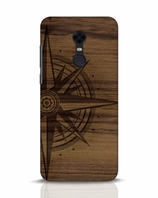 Shop Wood Compass Xiaomi Redmi Note 5 Mobile Cover-Front