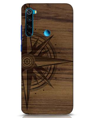 Shop Wood Compass Xiaomi Redmi Note 8 Mobile Cover-Front