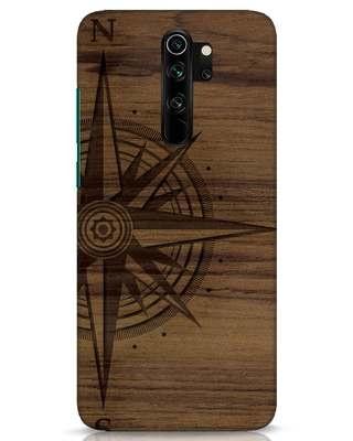 Shop Wood Compass Xiaomi Redmi Note 8 Pro Mobile Cover-Front
