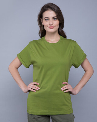 Shop Woodbine Green Boyfriend T-Shirt-Front