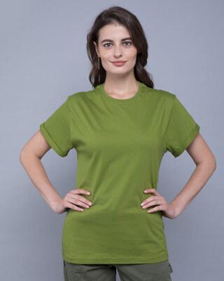 Shop Woodbine Green Boyfriend T-Shirt-Front