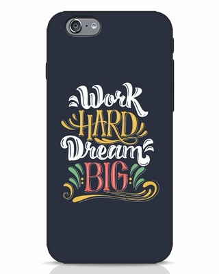 Shop Work Hard iPhone 6s Mobile Cover-Front