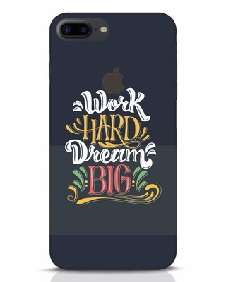 Shop Work Hard iPhone 7 Plus Logo Cut Mobile Cover-Front