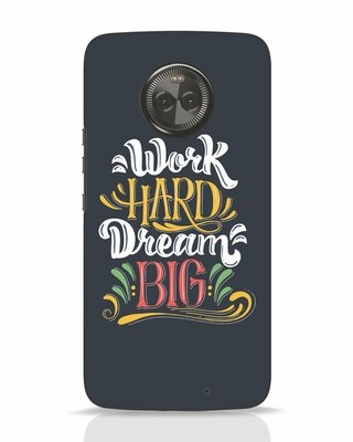 Shop Work Hard Moto X4 Mobile Cover-Front