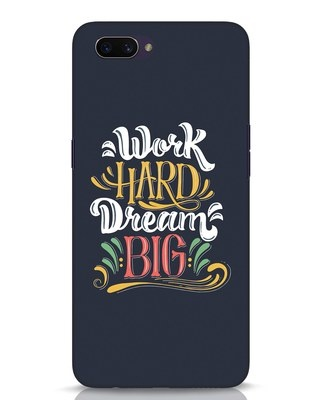 Shop Work Hard Oppo A3S Mobile Cover-Front