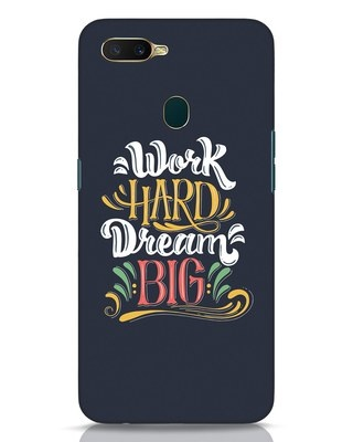 Shop Work Hard Oppo A7 Mobile Cover-Front