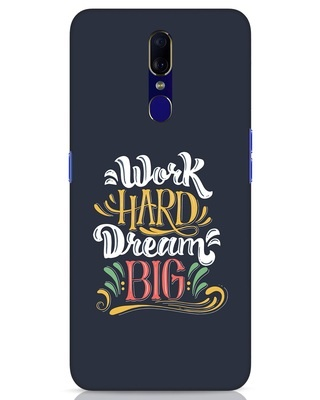 Shop Work Hard Oppo F11 Mobile Cover-Front