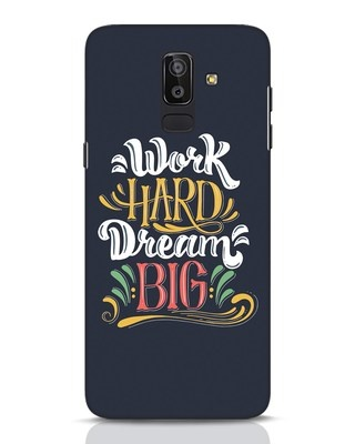 Shop Work Hard Samsung Galaxy J8 Mobile Cover-Front