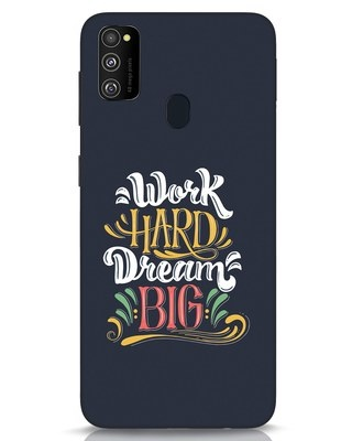 Shop Work Hard Samsung Galaxy M30s Mobile Cover-Front