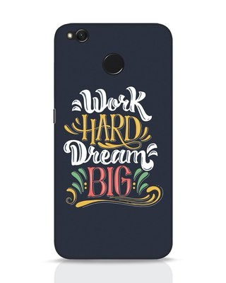 Shop Work Hard Xiaomi Redmi 4 Mobile Cover-Front