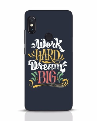Shop Work Hard Xiaomi Redmi Note 5 Pro Mobile Cover-Front