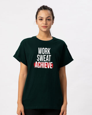 Shop Work Sweat Achieve Boyfriend T-Shirt-Front