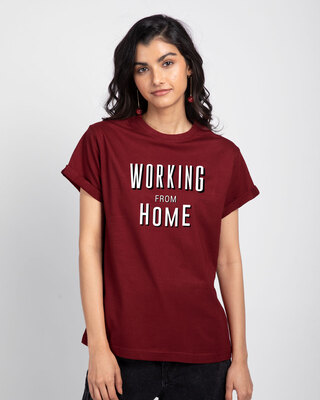 Shop Working From Home Boyfriend T-Shirt-Front