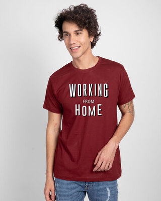 Shop Working From Home Half Sleeve T-Shirt-Front