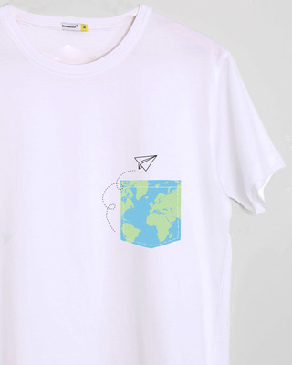 Shop World In Your Pocket Half Sleeve T-Shirt-Front