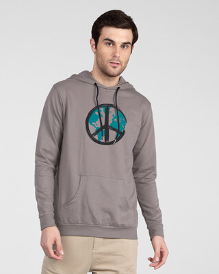 Shop World Peace Fleece Hoodie-Front