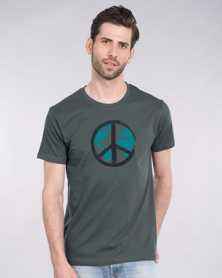 Shop World Peace Half Sleeve T-Shirt-Front