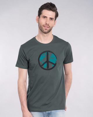 Shop World Peace Half Sleeve T-Shirt-Front