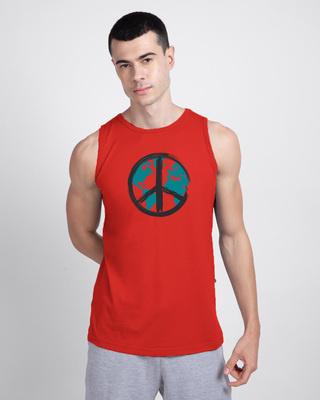 Shop World Peace Round Neck Vest-Front