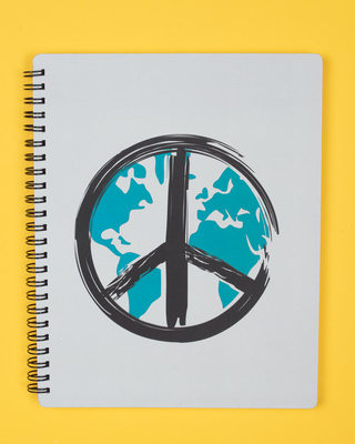 Shop World Peace Spiral Notebook-Front