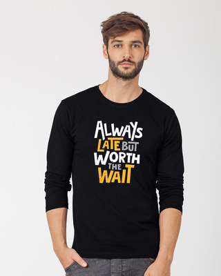 Shop Worth It Full Sleeve T-Shirt-Front