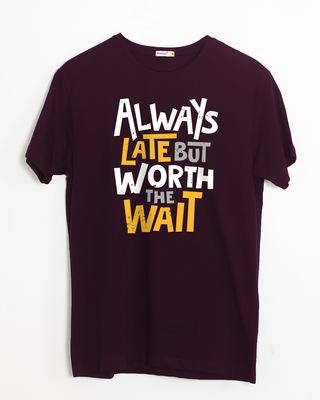 Shop Worth It Half Sleeve T-Shirt-Front