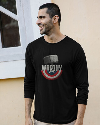 Shop Worthy Full Sleeve T-Shirt (AVEGL)-Front