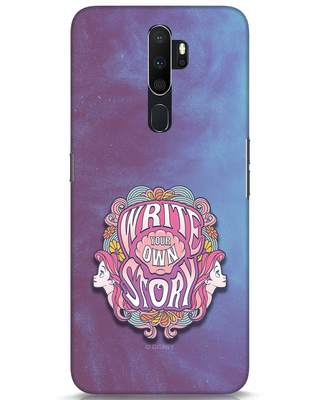Shop Write Your Own Story Oppo A5 2020 Mobile Cover (DL)-Front