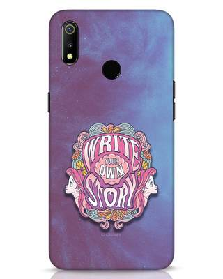 Shop Write Your Own Story Realme 3 Mobile Cover (DL)-Front