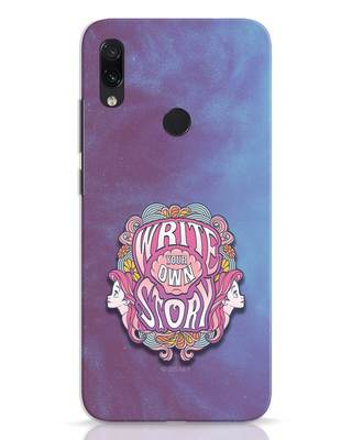 Shop Write Your Own Story Xiaomi Redmi Note 7 Mobile Cover (DL)-Front