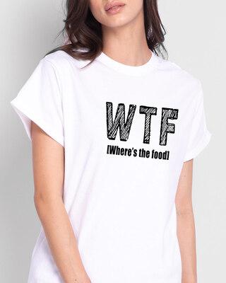 Shop WTF Food Boyfriend T-Shirts White -Front