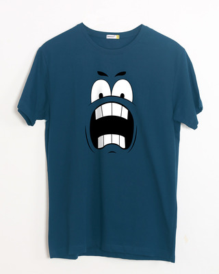 Shop Wtf Smiley Half Sleeve T-Shirt-Front