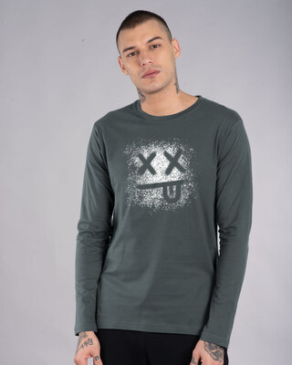 Shop Xx Smiley Full Sleeve T-Shirt-Front