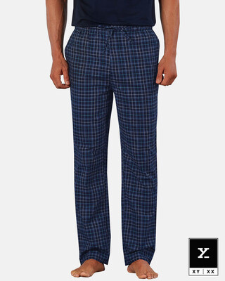 Shop XYXX Super Combed Cotton Checkered Pyjama for Men-Front