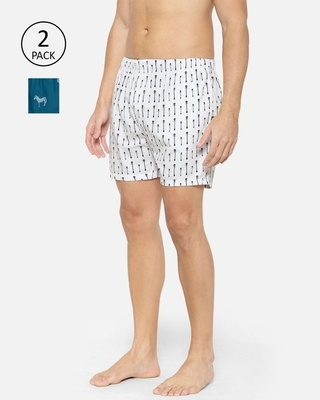 Shop XYXX Super Combed Cotton Printed Boxers for Men Pack of 2-Front