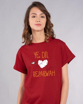 Shop Ye Dil Boyfriend T-Shirt-Front