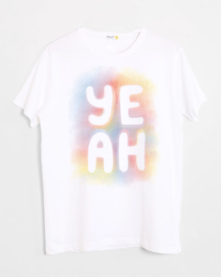 Shop Yeah Colorful Half Sleeve T-Shirt-Front