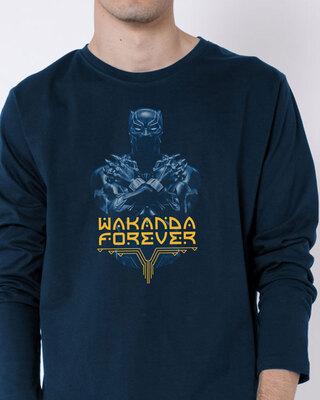 Shop Yibambe Men's Printed Full Sleeve T-Shirt-Front