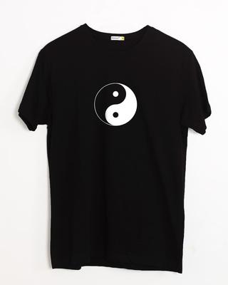 Yin Yang Half Sleeve T-Shirt