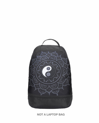 Shop Yin Yang Mandala Printed Small Backpack-Front
