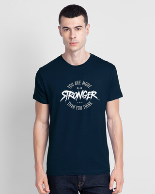 Shop You Are More Stronger Half Sleeve T-Shirt-Front