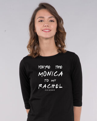Shop You're The Monica Round Neck 3/4th Sleeve T-Shirt (FRL)-Front
