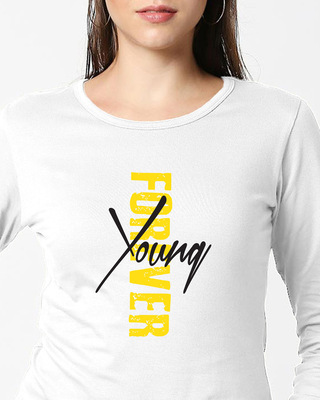 Shop Young Forever  Full Sleeves T Shirt-Front