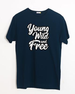 Buy Young Wild Typography Half Sleeve T-Shirt Online India @ Bewakoof.com