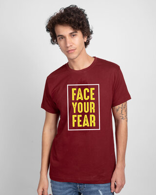 Shop Your Fear Half Sleeve T-Shirt-Front