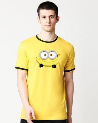 Shop YUMM Round Neck Varsity H/S T-shirt-Front